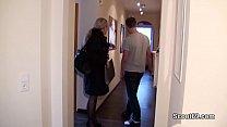 German MILF seduce Young Boy to Fuck when Home alone 13 min