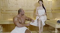 RELAXXXED - Hard fuck at the sauna with attractive Russian babe Angel Rush