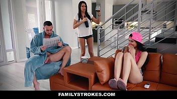 FamilyStrokes - Hot Asian Teen (Brenna Sparks) Fucks StepDaddy