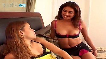 Latinas Lena Julliette & Gabby Get Ass Fucked Then Swap The Cum Load