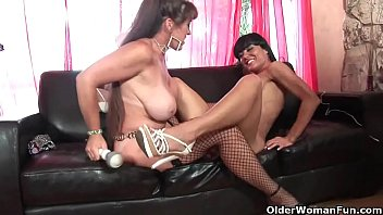 American milfs pleasure each other's pussy