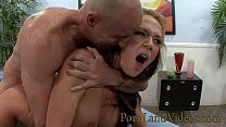 slutty wife Nikki Sexx fucking for money in front of husband