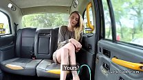 Skinny legs blonde bangs in fake taxi (Stор Jerking Off! Join Now: HotDating24.com)