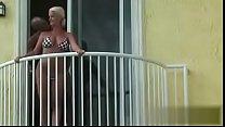 couple fuck hard on a balcony - deepestdesire.net