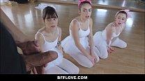 Three Tiny Teen Ballerinas Fucked By Big Cock POV