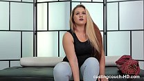 Chunky amaateur gets PISSED!!! after her first shoot costs her her job