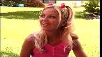 Gorgeous Blonde Teenie Fucking Huge Cock in The Park
