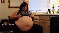 HUGE bloated belly!