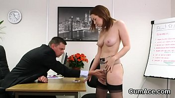 Wicked idol gets sperm load on her face gulping all the load
