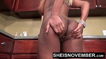 Msnovember Getting Naked In The Kitchen Pressured By Step Brother To Get  Freaky Spreading Her Ebony Vagina Open With Large Natural Rack Exposed , Long Blonde Hair Babe Sheisnovember HD