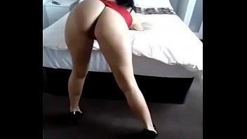 tight shiny red dress