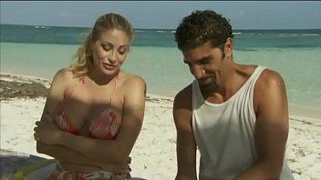 Italian pornstar Vittoria Risi screwed by two sailors on the beach 26 min
