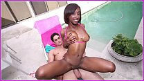 BANGBROS - Amy Shorts Is A Skinny Black Girl With A Big Butt