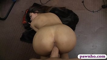 Lovely woman plowed by horny pawn dude