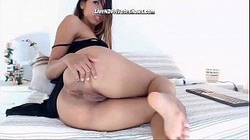 Latina Teen Babe Fingering Ass Hole