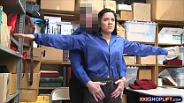Cute shoplifter chick gets caught and humiliated hard