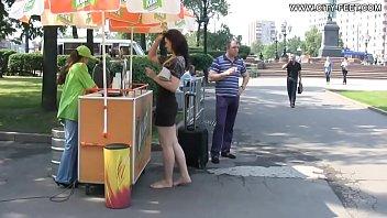 Ukraine Women Walks Streets Barefoot Part 1- www.prettyfeetvideo.com