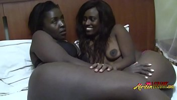 Extremely hot ebony lesbians with huge ass love oral
