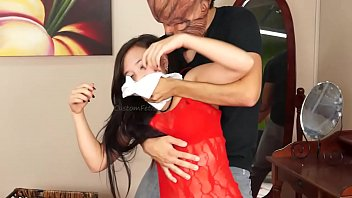 Home Invasion Masked Villain Knocks Out Lift/Carries Roxy p.