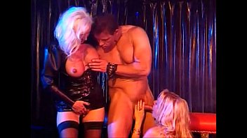 Two Hot Horny Beautiful Blondes in Leather get a good fuck, Helen Duval