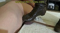 UNDER-SHOES Miss Claire brown boots extreme CBT and ballbusting http://www.clips4sale.com/studio/424