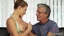 Neighbor catches step mom and boss' patron's daughter first time Sex