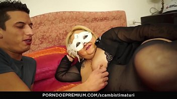 SCAMBISTI MATURI - Blonde Italian BBW is the perfect newbie to be fucked by y. stallion
