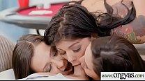 Gina Valentina & Karlee Grey & Jaye Summers hot teens enjoy cock on cam