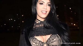 Latina flshing big tits in bra in public (Stор Jerking Off! Join Now: HotDating24.com)
