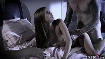 Girls night of two teens turns threesome with stepbro