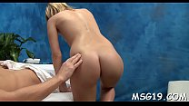 Topnotch masseuse fucked by a lascivious chap on a massage table