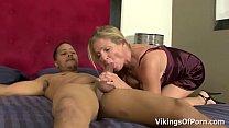Hot Blonde MILF Bitch Peaches Enjoys Young Big Black Cock