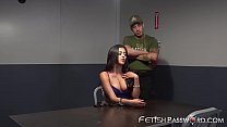 Latina slut has to suck a huge cock to get out of jail