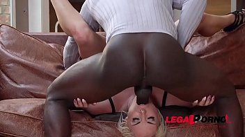 Busty Wife Victoria Summers gets interracial Throat Fuck to the Balls GP015 37 sec