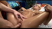 Sexy 18 year old gril gets fucked hard doggy style by her massage therapist