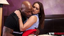 Young babe Sara Luvv destroyed by hard interracial sex