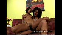 Black beauty uses strapon to pump ebony lesbian lover