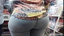 Mega nalgona en jeans