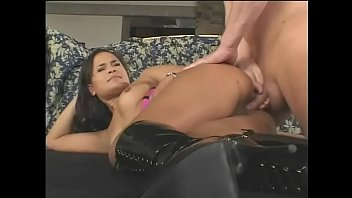 Cute young woman Sabrine Maui takes painful anal and a big cum load on her asshole