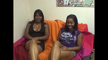 Nice tits ebony sluts get snatches hardcore fucked by white guy's dong