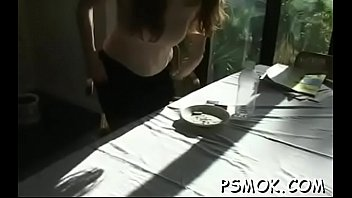 Elegant chick with great ass fingering her wet muff