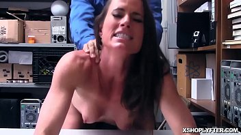 Tought shoplyfter swallow a hardcore LP Officer cock!