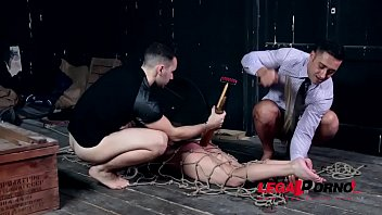 Young BDSM porn starlet Kristy Black tied up, spanked and double penetrated GP180
