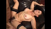 Stud fucks a sexy dark haired MILF and ejaculates on her face