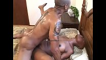 Black hunk with a thick cock gets a good blowjob and fuck from black hooker babe