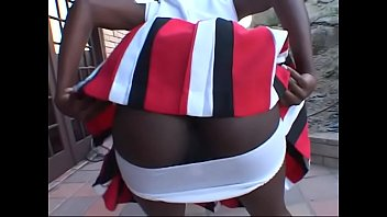 Black Hot black cheerleader Tiny Star takes it in her wet twat
