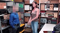 Tall tight MILF busted stealing by a security guard