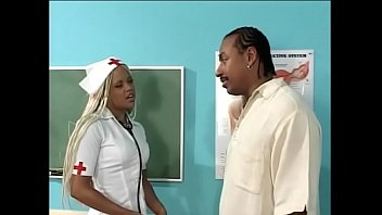 Student nurse shows her cocksucking skills to teacher stud in class