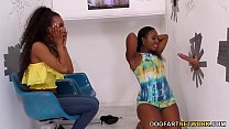 Chanell Heart and Demi Sutra Share Gloryhole Cock