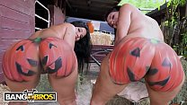 BANGBROS - Rose Monroe and Valentina Jewels At The Pumpkin Booty Patch